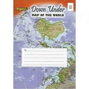 【Gregory's】Down Under Map of the World
